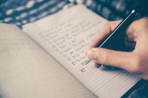 Pen and Paper Checklist