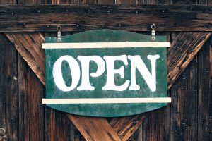 Wooden Open Sign